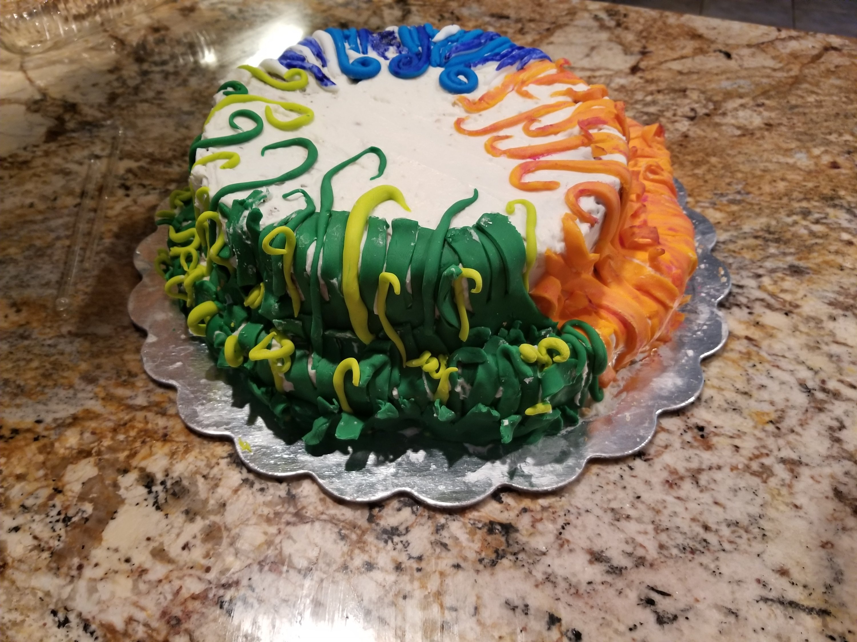 Pokemon birthday cake sour cream pound cake