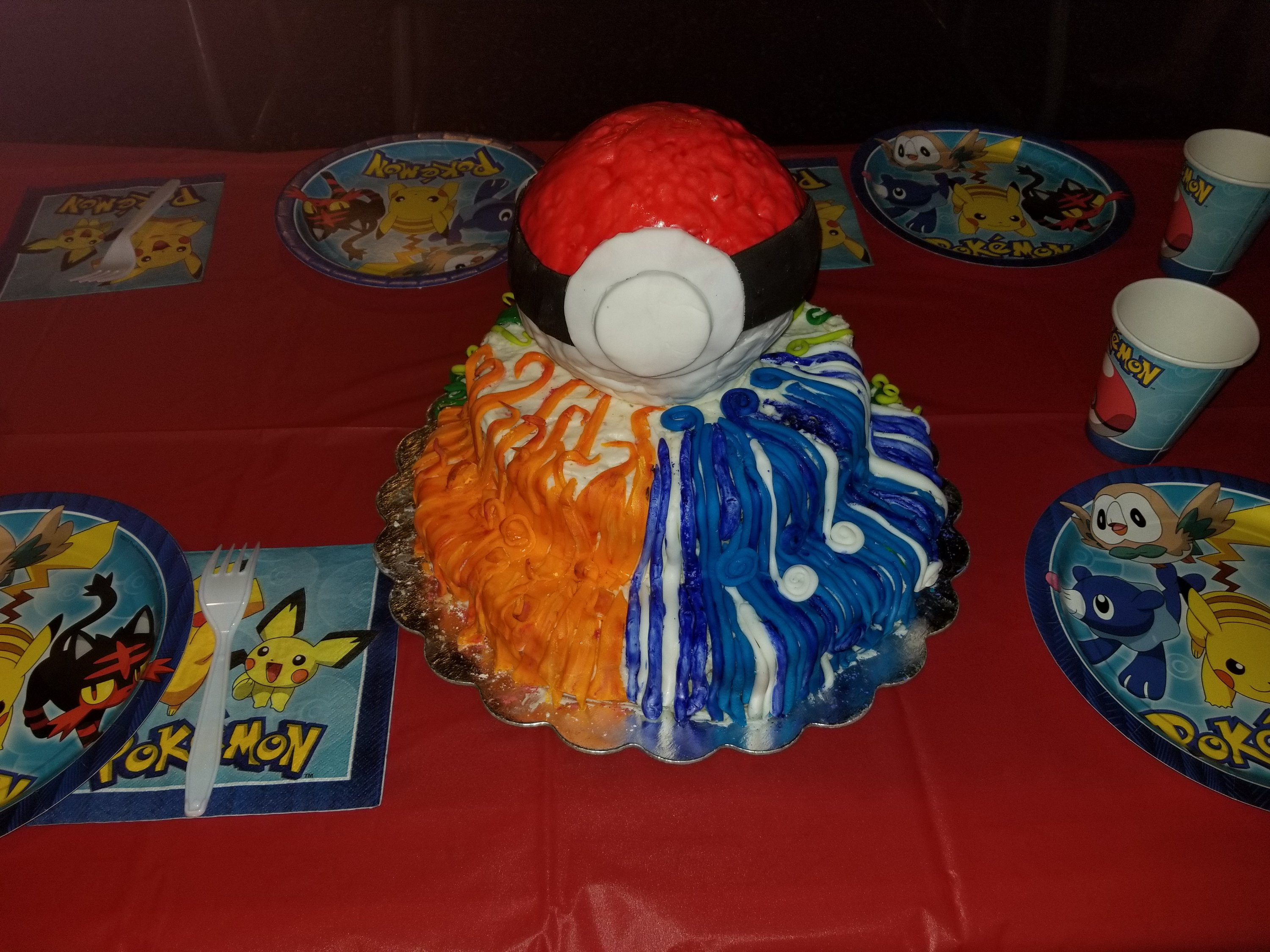 pokemon cake birthday