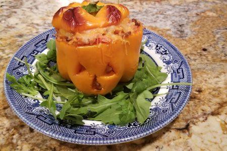 Jack o lantern stuffed peppers halloween dinner ideas