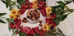 fall inspired acorn and mushroom cookies