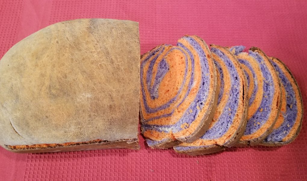 Fresh homemade bread recipe halloween bread colored rainbow bread