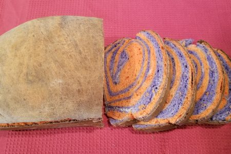 Fresh homemade bread recipe halloween bread colored rainbow bread